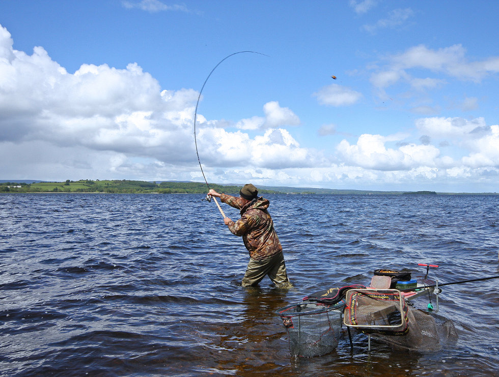 Fisihing rod cast at lough derg holiday houses